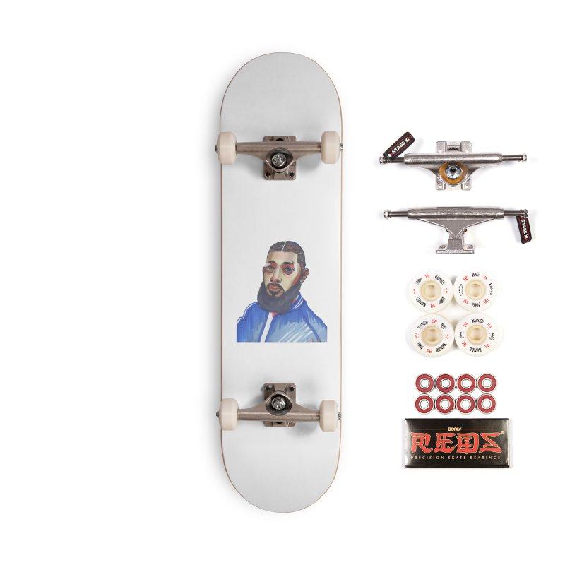 NIPSEY HUSSLE Accessories Complete - Pro Skateboard by birdboogie's Artist Shop