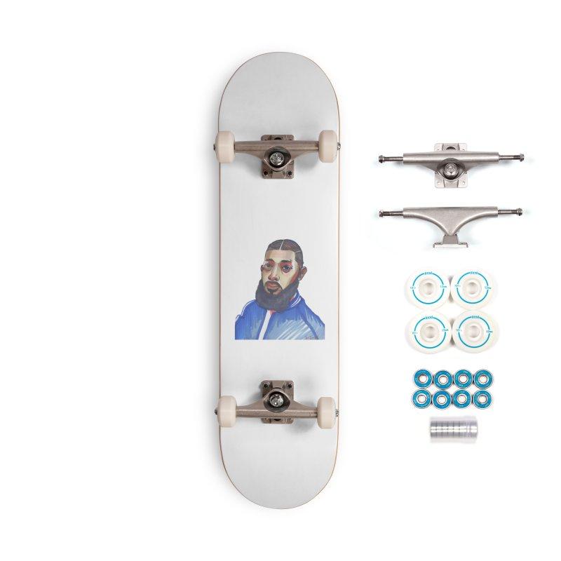 NIPSEY HUSSLE Accessories Complete - Basic Skateboard by birdboogie's Artist Shop
