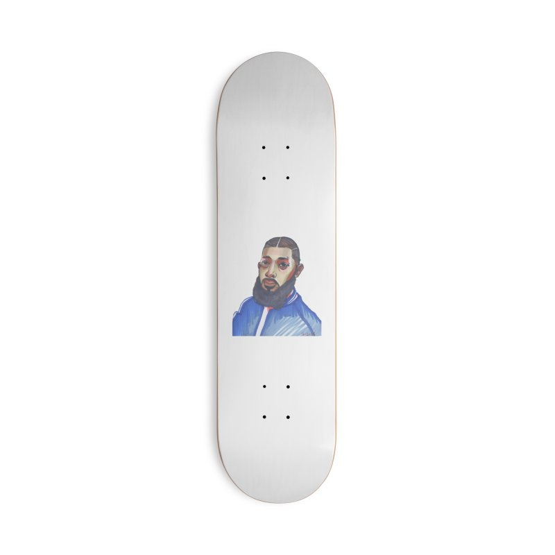 NIPSEY HUSSLE Accessories Deck Only Skateboard by birdboogie's Artist Shop
