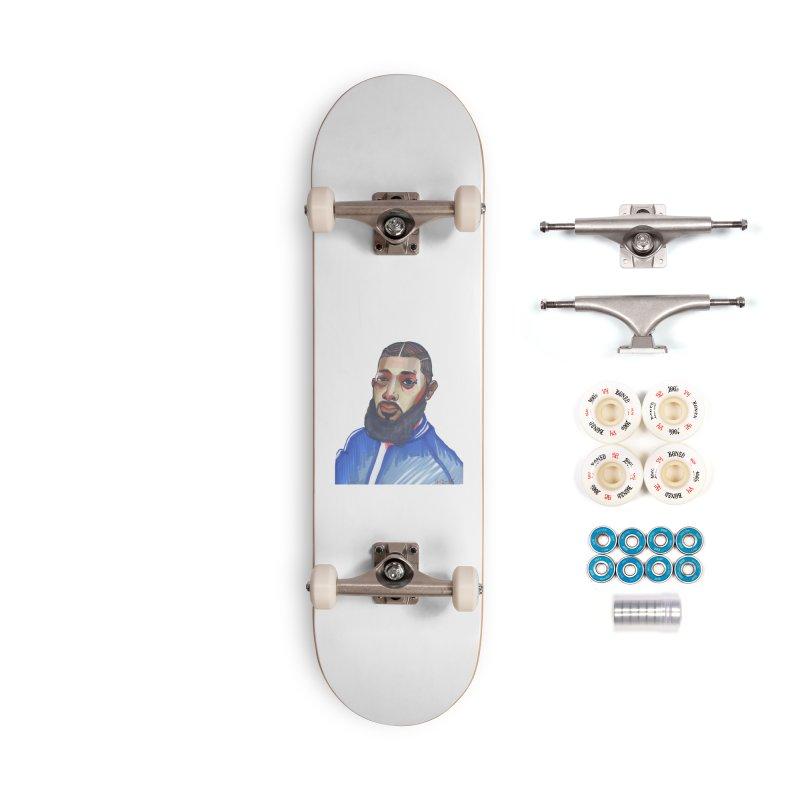 NIPSEY HUSSLE Accessories Skateboard by birdboogie's Artist Shop