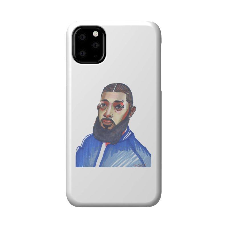 NIPSEY HUSSLE Accessories Phone Case by birdboogie's Artist Shop