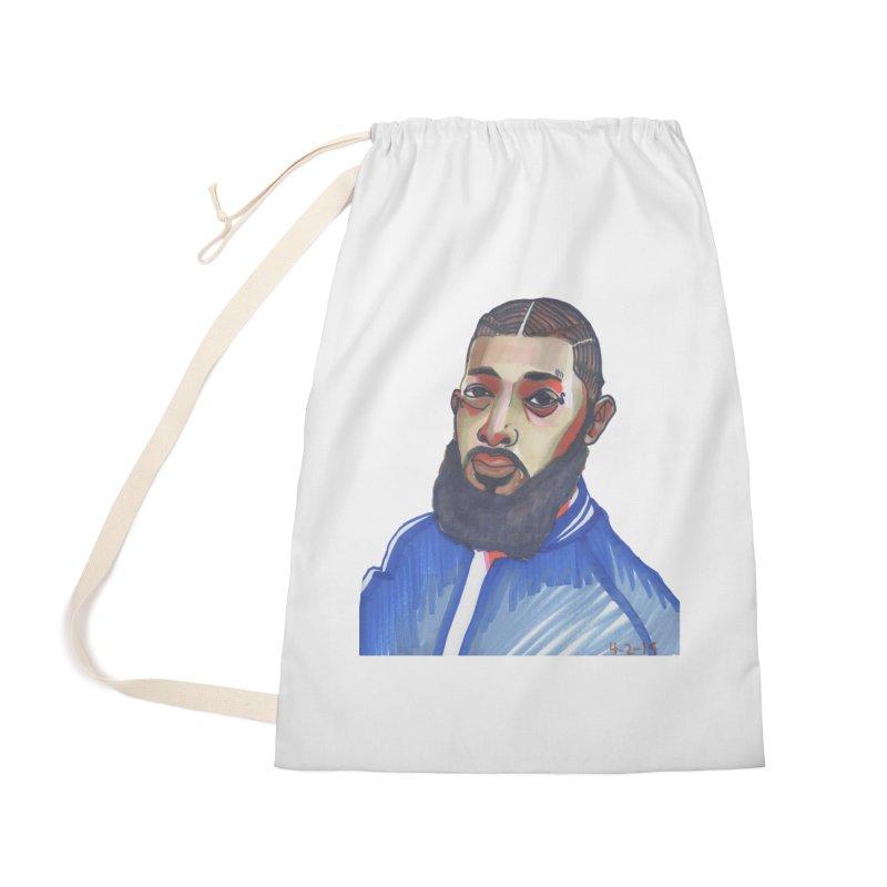NIPSEY HUSSLE Accessories Bag by birdboogie's Artist Shop