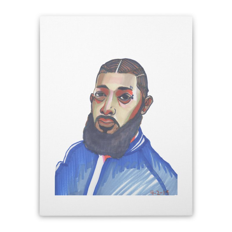 NIPSEY HUSSLE Home Stretched Canvas by birdboogie's Artist Shop