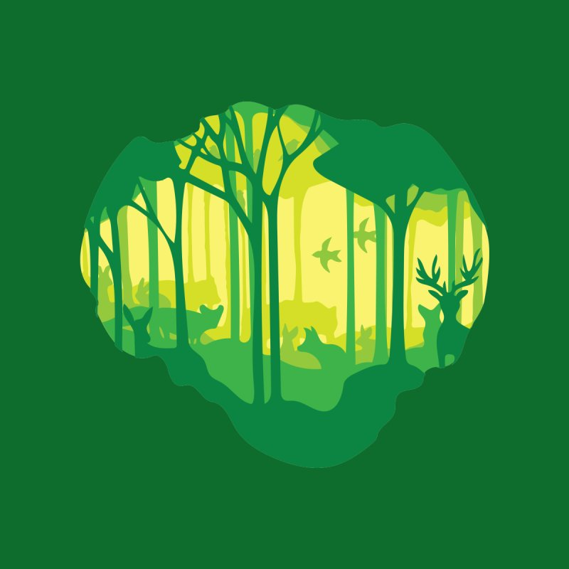 A view into the woods by Birdoptera on Threadless
