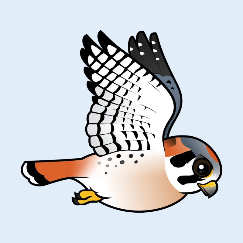 Birdorable American Kestrel in Flight None  by birdorable's Artist Shop
