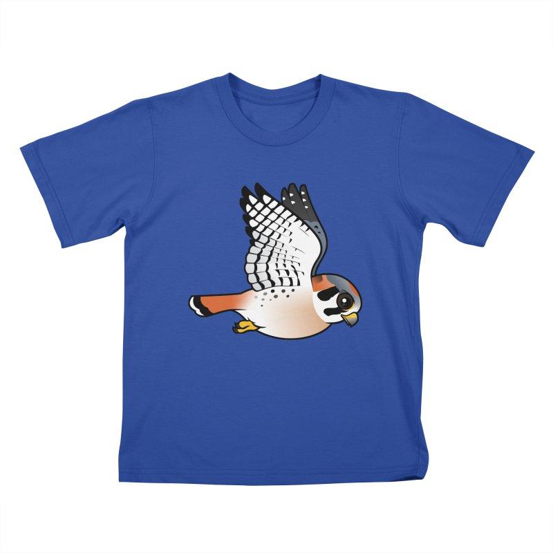 Birdorable American Kestrel in Flight Kids T-shirt by birdorable's Artist Shop
