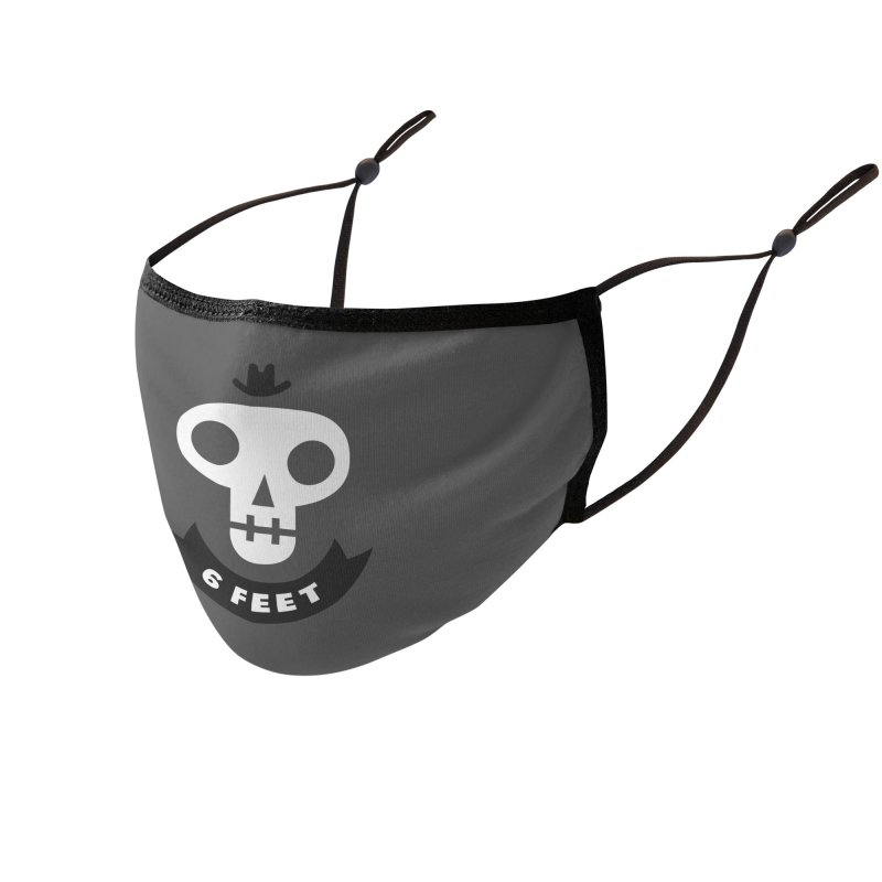 6 FEET SKULL Accessories Face Mask by bishopia's Shop