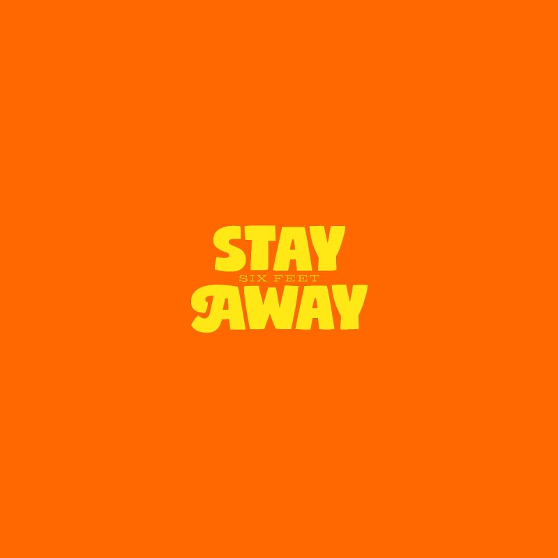 STAY six feet AWAY Accessories Face Mask by bishopia's Shop