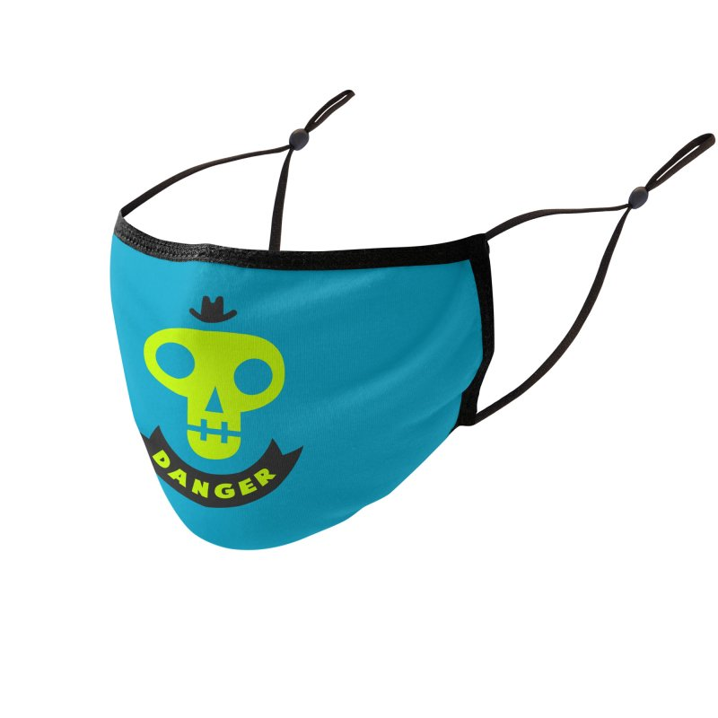 Danger Skull Accessories Face Mask by bishopia's Shop