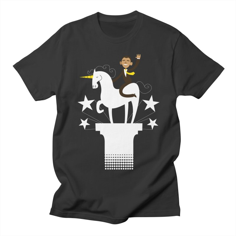 Classic Obama on a Unicorn Women's Unisex T-Shirt by bishopia's Shop