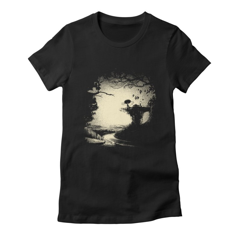 The Lost Neverland Women's Fitted T-Shirt by bitgie's Artist Shop