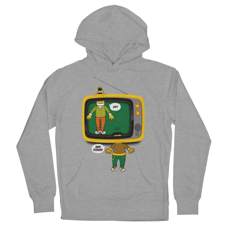 Up and down Women's French Terry Pullover Hoody by biticol's Artist Shop