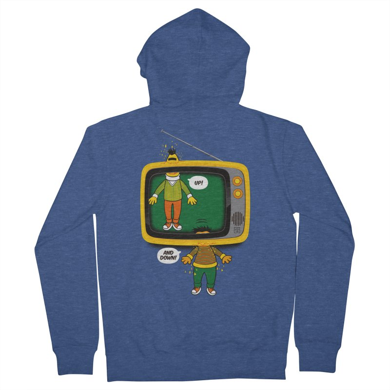 Up and down Men's French Terry Zip-Up Hoody by biticol's Artist Shop