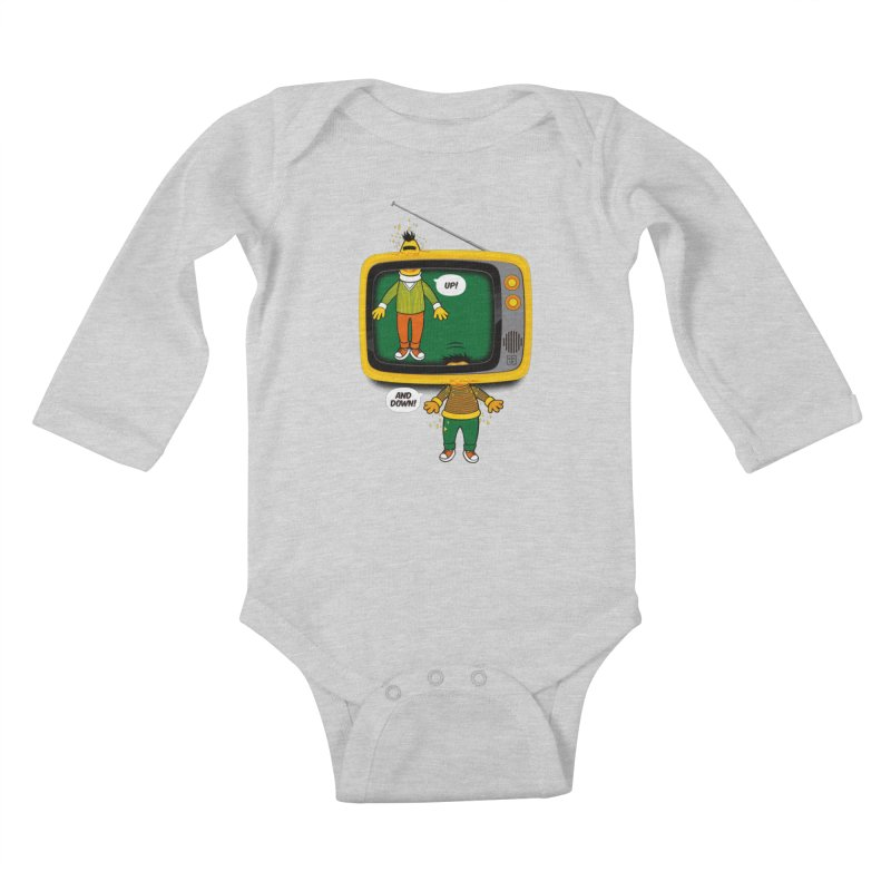 Up and down Kids Baby Longsleeve Bodysuit by biticol's Artist Shop