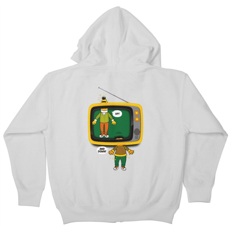 Up and down Kids Zip-Up Hoody by biticol's Artist Shop