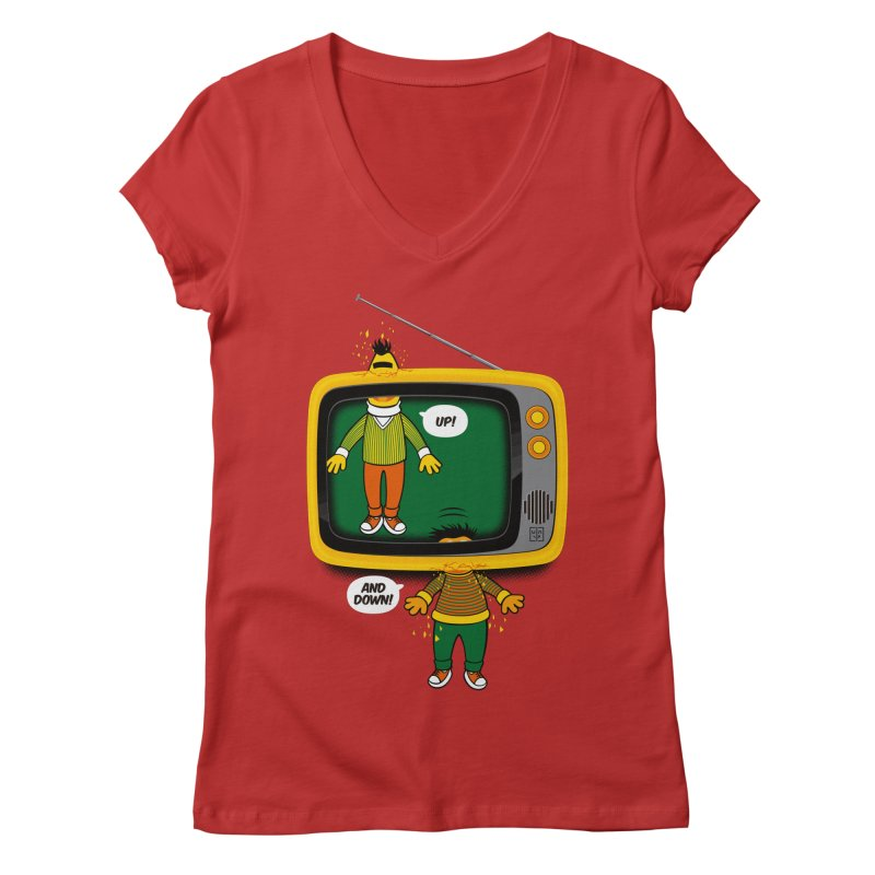 Up and down Women's Regular V-Neck by biticol's Artist Shop