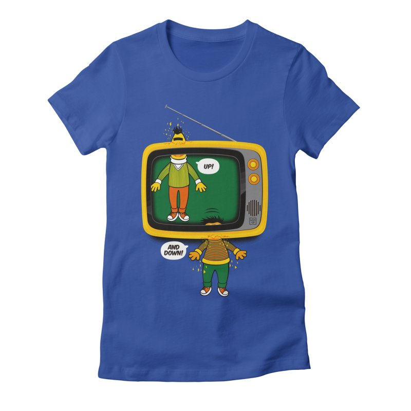 Up and down Women's Fitted T-Shirt by biticol's Artist Shop