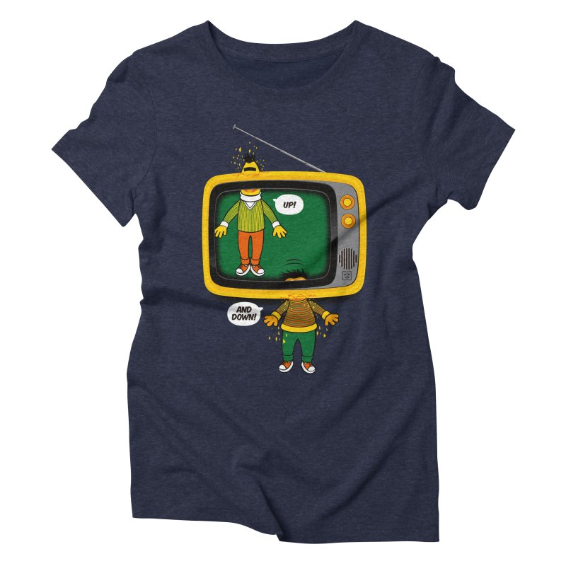Up and down Women's Triblend T-Shirt by biticol's Artist Shop