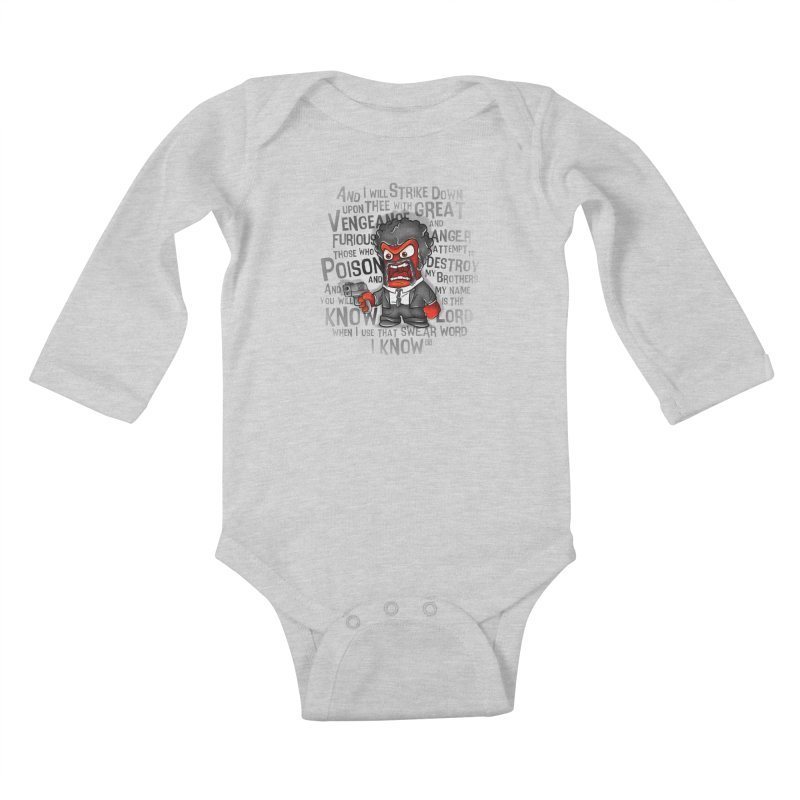 Furious anger Kids Baby Longsleeve Bodysuit by biticol's Artist Shop