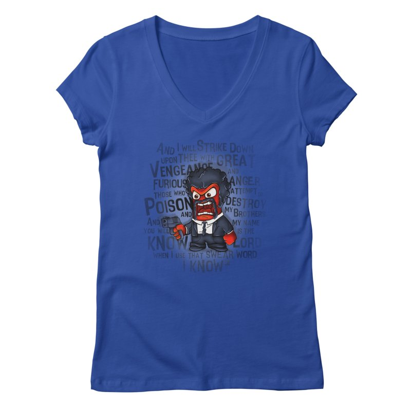 Furious anger Women's V-Neck by biticol's Artist Shop