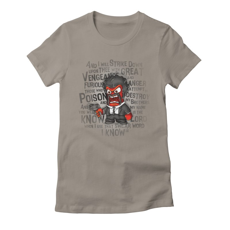 Furious anger Women's Fitted T-Shirt by biticol's Artist Shop