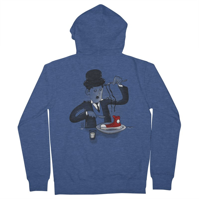 Gold rush Men's French Terry Zip-Up Hoody by biticol's Artist Shop