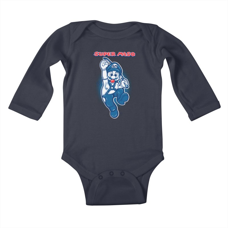 Super maso Kids Baby Longsleeve Bodysuit by biticol's Artist Shop