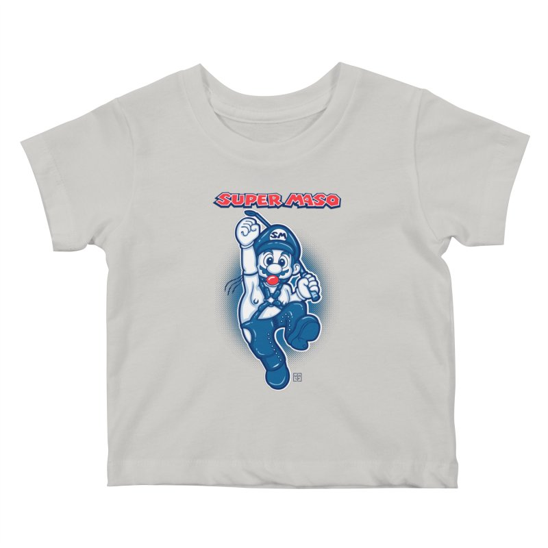 Super maso Kids Baby T-Shirt by biticol's Artist Shop