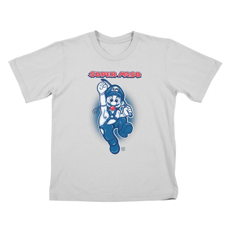 Super maso Kids T-Shirt by biticol's Artist Shop