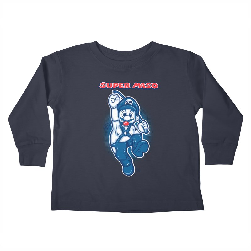 Super maso Kids Toddler Longsleeve T-Shirt by biticol's Artist Shop