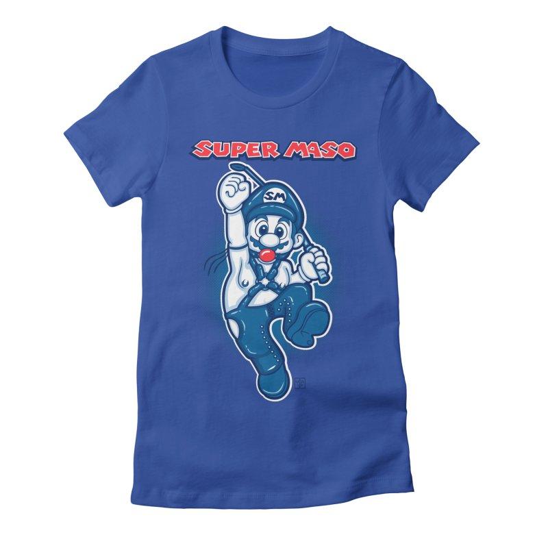 Super maso Women's Fitted T-Shirt by biticol's Artist Shop