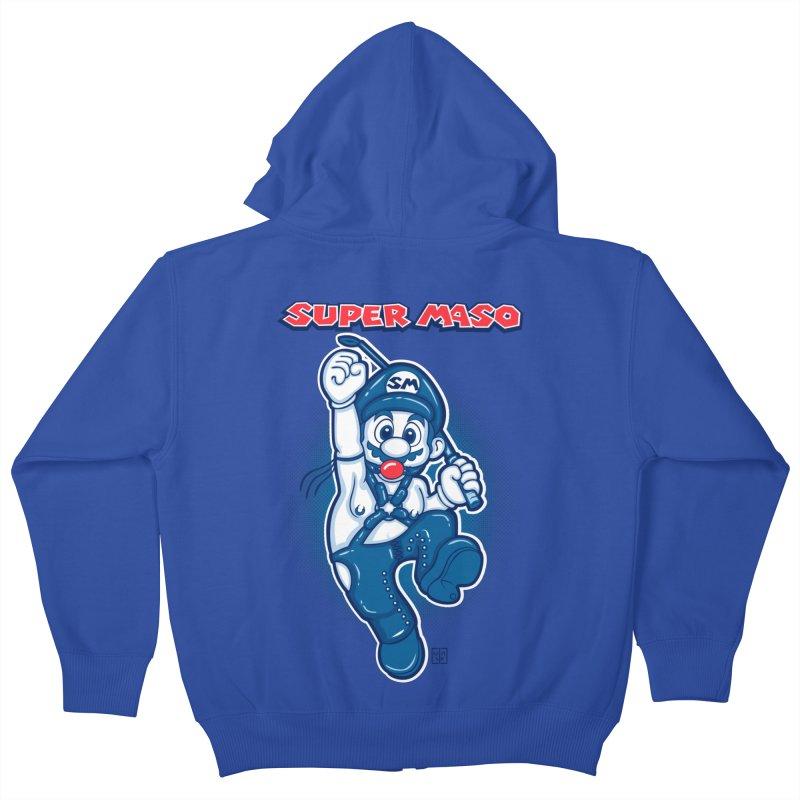 Super maso Kids Zip-Up Hoody by biticol's Artist Shop