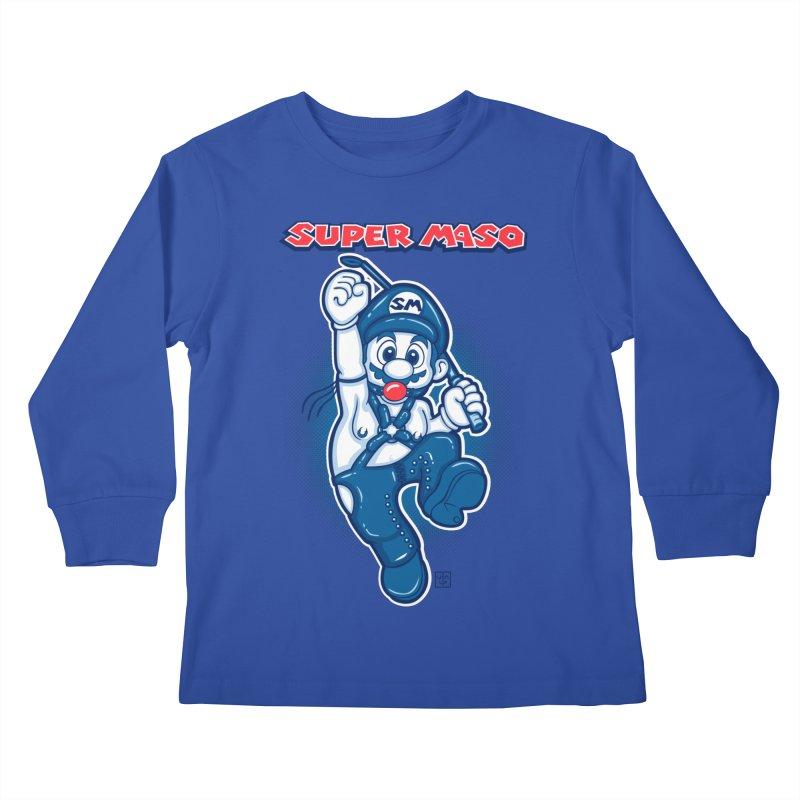Super maso Kids Longsleeve T-Shirt by biticol's Artist Shop