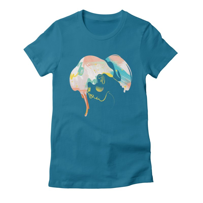 Drip III Women's Fitted T-Shirt by bitsandpcs