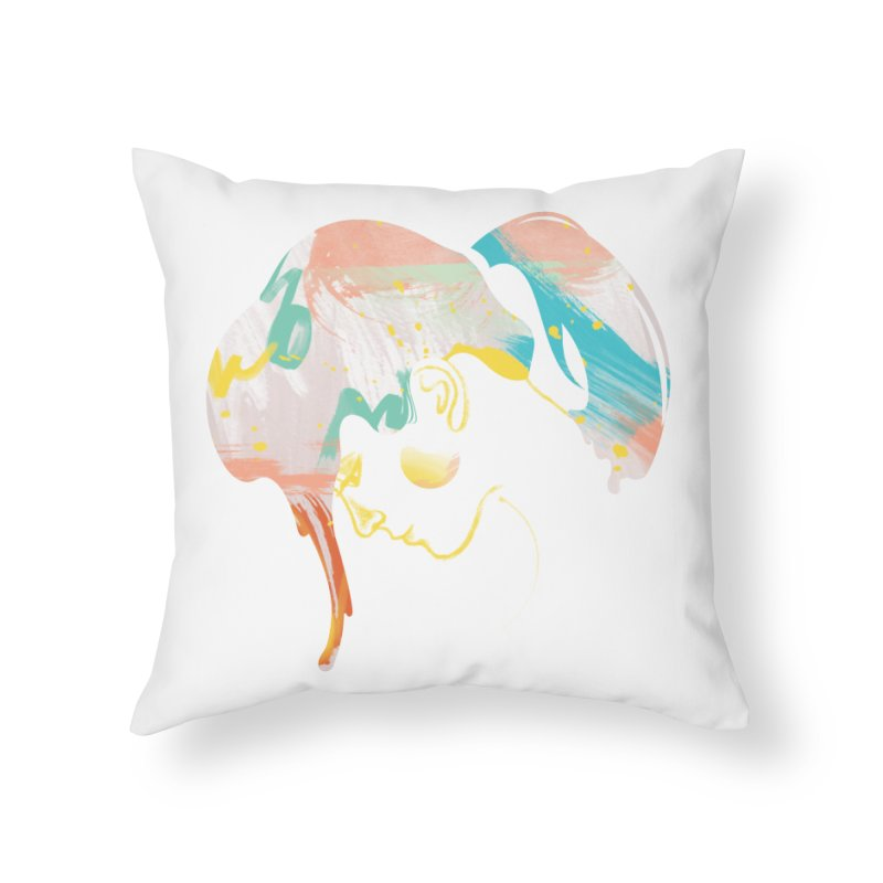 Drip III Home Throw Pillow by bitsandpcs