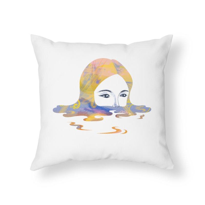 Drip IX Home Throw Pillow by bitsandpcs