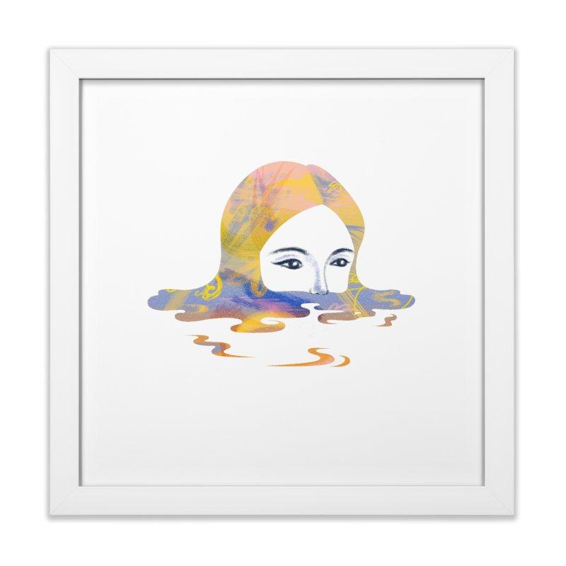 Drip IX Home Framed Fine Art Print by bitsandpcs