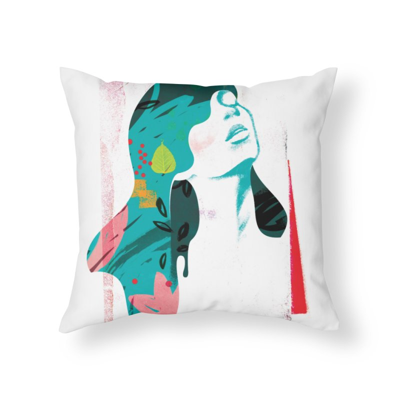 Drip VI Home Throw Pillow by bitsandpcs