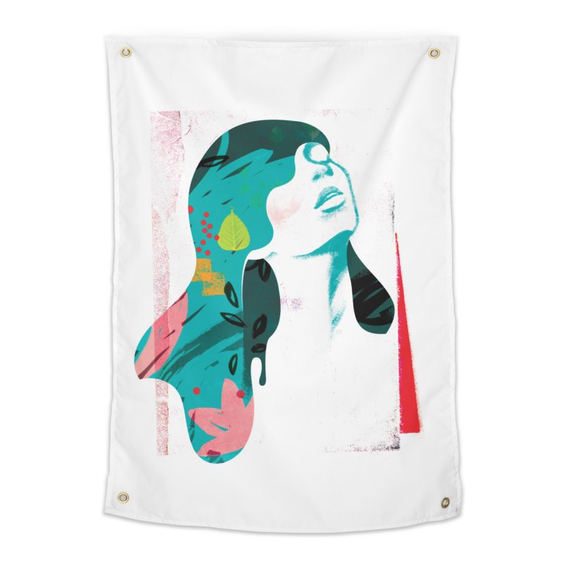 Drip VI Home Tapestry by bitsandpcs