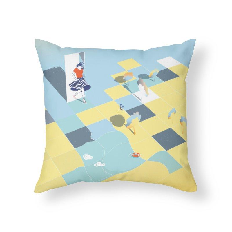 Enter Home Throw Pillow by bitsandpcs