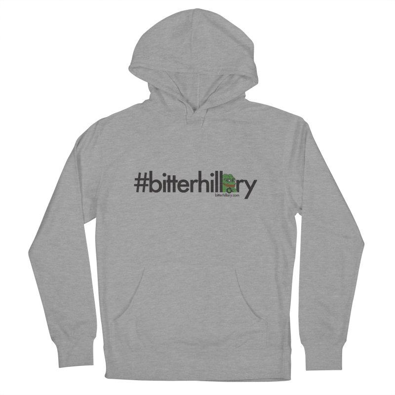 #bitterhillary #pepe Men's French Terry Pullover Hoody by #bitterhillary