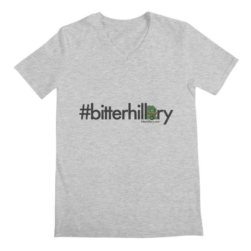 #bitterhillary #pepe Men's Regular V-Neck by #bitterhillary