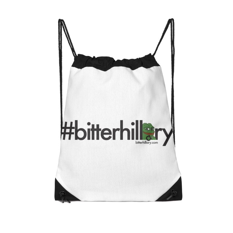 #bitterhillary #pepe Accessories Bag by #bitterhillary