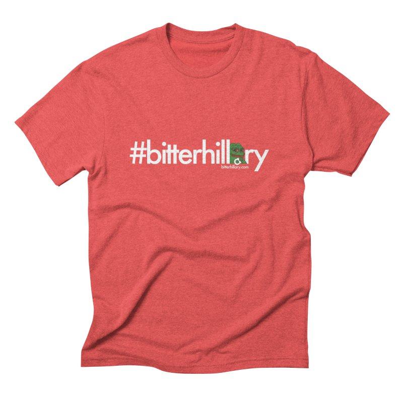 #bitterhillary #pepe Men's Triblend T-Shirt by #bitterhillary