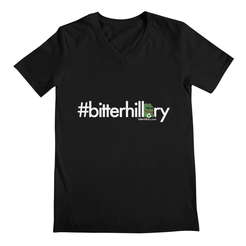 #bitterhillary #pepe Men's V-Neck by #bitterhillary