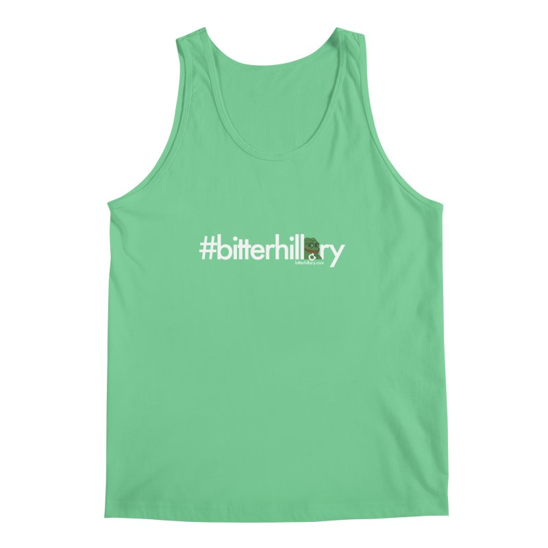 #bitterhillary #pepe Men's Regular Tank by #bitterhillary