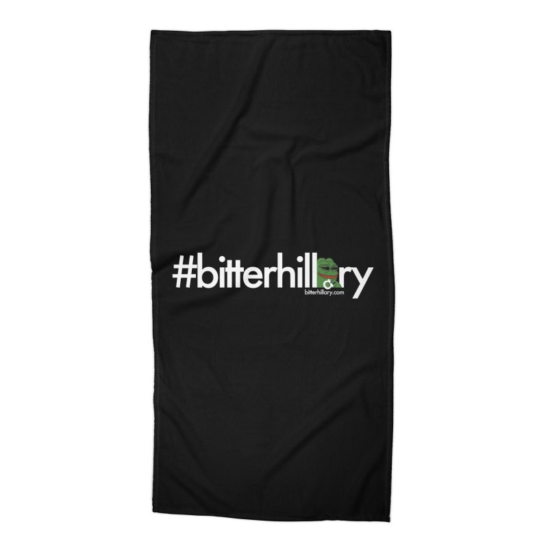 #bitterhillary #pepe Accessories Beach Towel by #bitterhillary