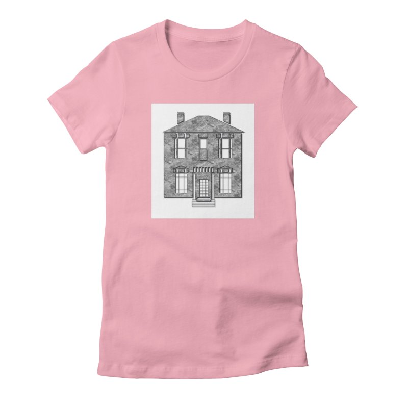 Georgian Mansion Women's Fitted T-Shirt by BIZGEN AUSTRALIA
