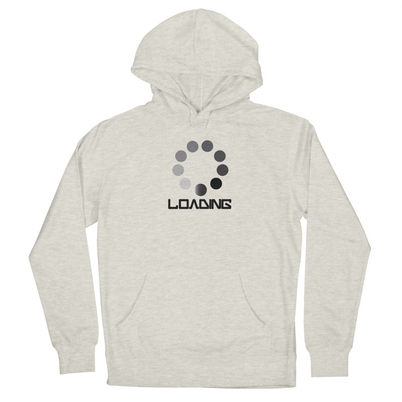 Image is of a 'Loading file' design  Women's French Terry Pullover Hoody by BIZGEN AUSTRALIA