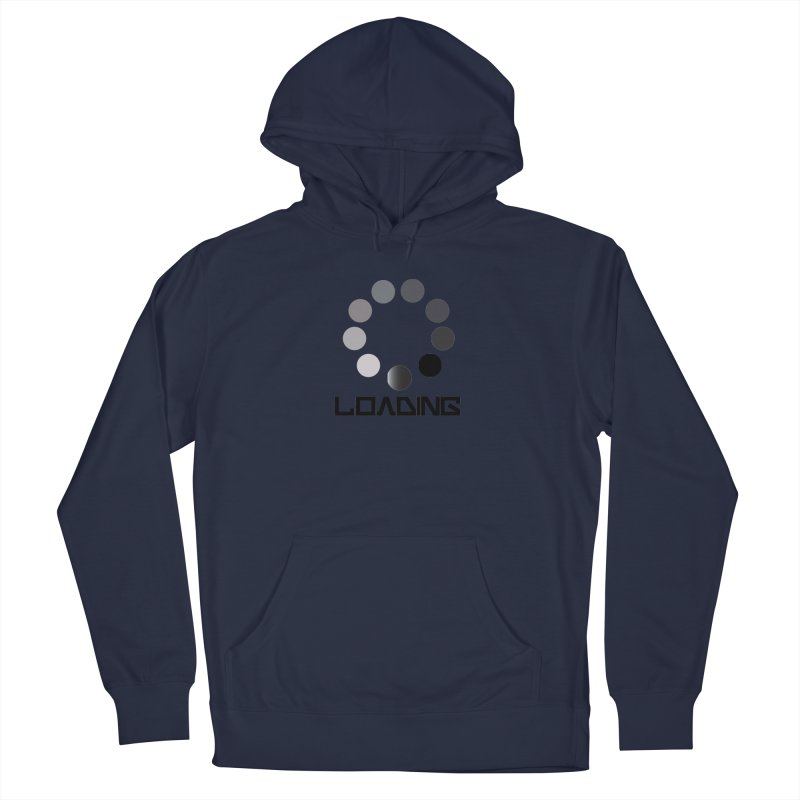 Image is of a 'Loading file' design  Men's French Terry Pullover Hoody by BIZGEN AUSTRALIA